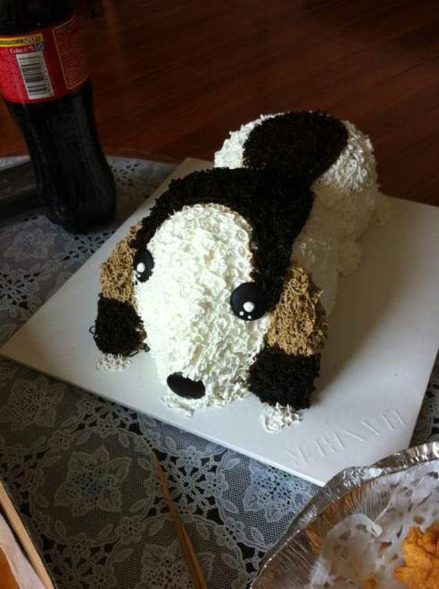 好友生日,特别订制的蛋糕~可爱狗狗喔