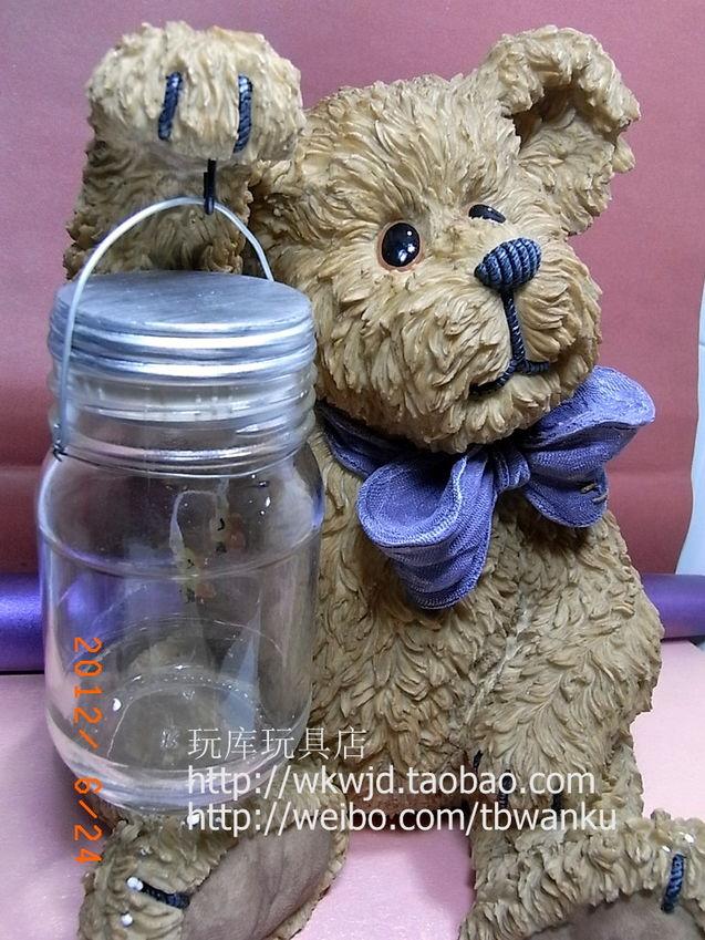 个性 限量/正版BOYDS 泰迪熊限量藏树脂熊大熊提灯太阳能灯可以亮