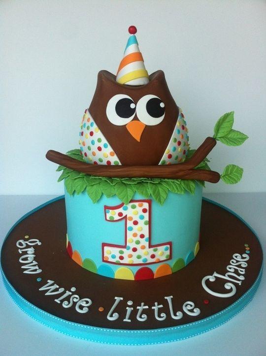 猫头鹰造型卡通图案蛋糕