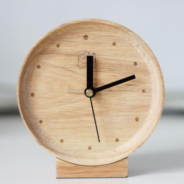 实木木头钟 创意木纹钟