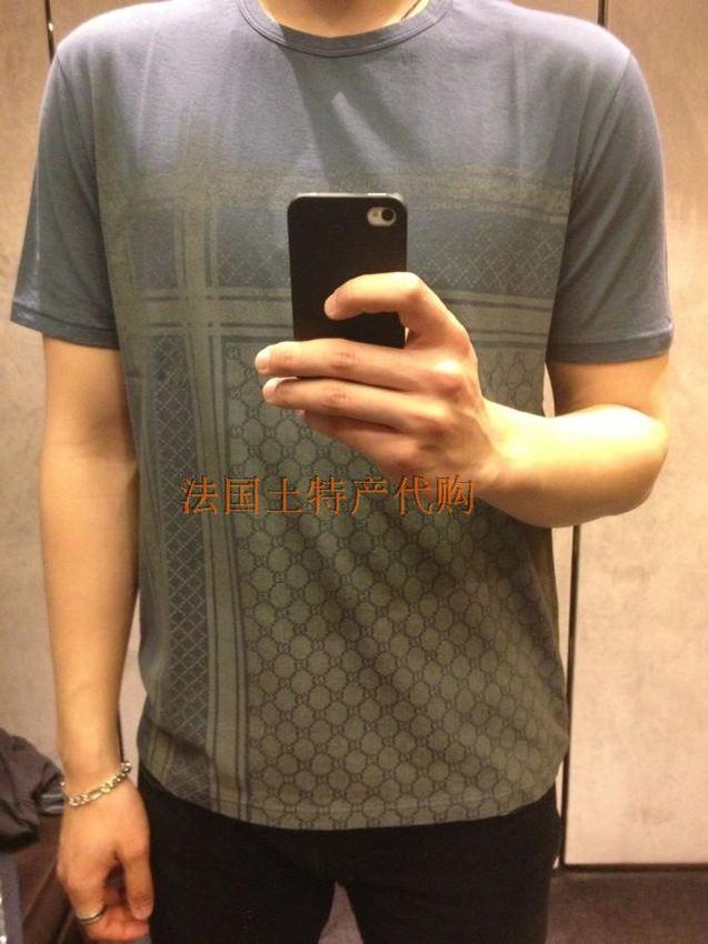 个性 街拍/法国代购gucci 古奇 2013春夏新款男式经典logo印花短袖T恤