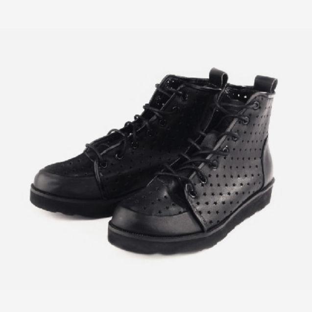 星空 个性 licret/【Licret】galaxy原宿星空中性高帮鞋