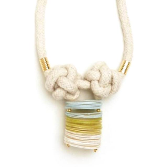 个性 街拍/海天一色贝壳绳结 手作项链