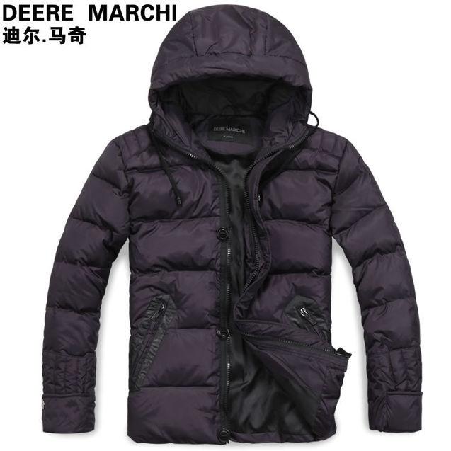 马奇 迪尔/迪尔马奇冬款英伦时尚男士连帽休闲羽绒服外套DM2562