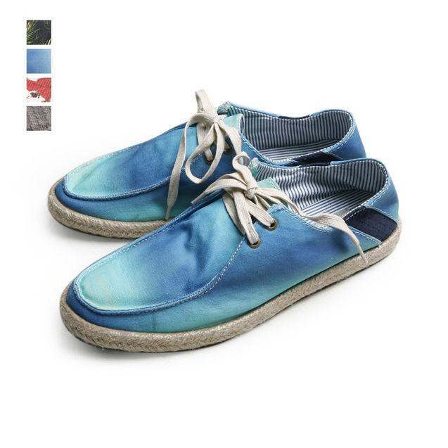 新款 热带风情/2013新款夏装热带风情麻边拼皮懒人鞋/帆船鞋.4花色入