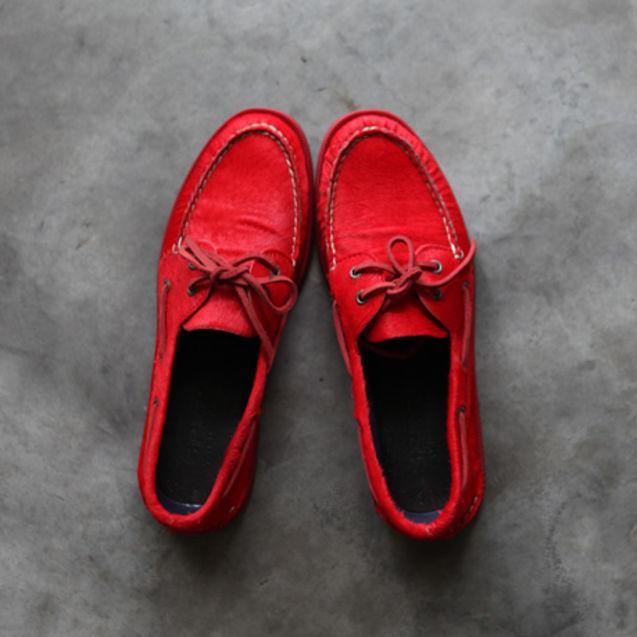 个性 马毛/马毛帆船鞋
