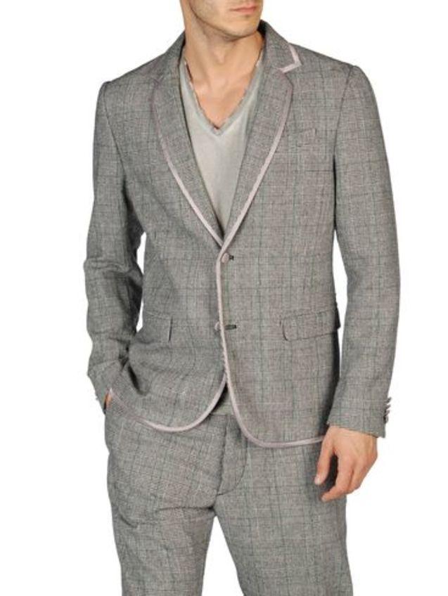 男士 美国/美国正品代购Diesel/迪赛 JUTURNA男士时尚休闲灰色西装