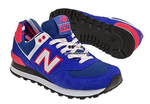 个性 街拍/◆代购◆美国 新百伦NEW BALANCE 574 运动鞋 女鞋 蓝红新款...