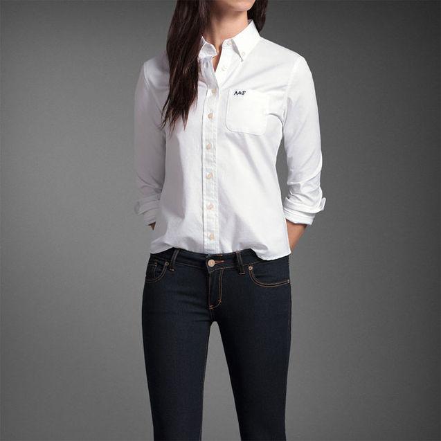 美国 fitch/现货㊣沙砾美国代购㊣Abercrombie Fitch AF女款正装衬衫多色