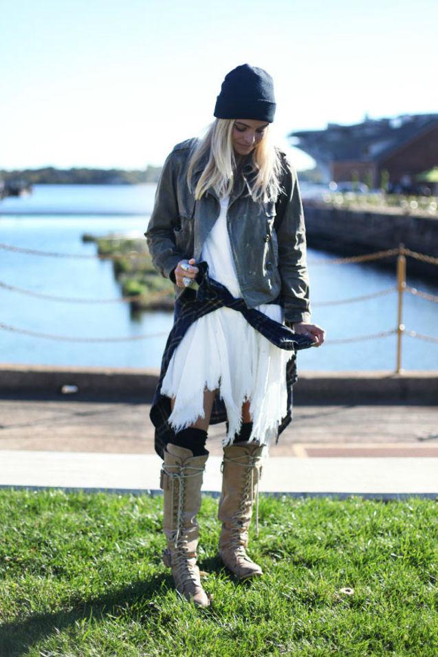搭配 蕾丝/秋冬也可以穿蕾丝,只要搭配硬朗感的单品就好了