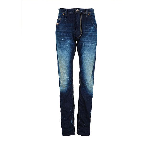 男士 diesel/DIESEL迪赛深蓝色磨白做旧男士#牛仔#裤