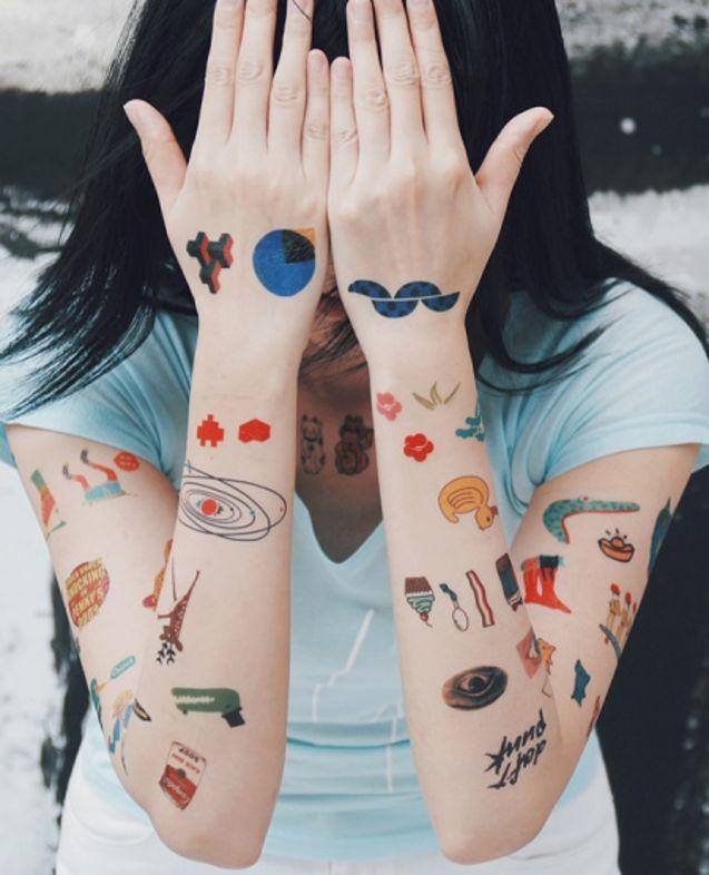 纹身/NEUF弗 纹身贴纸